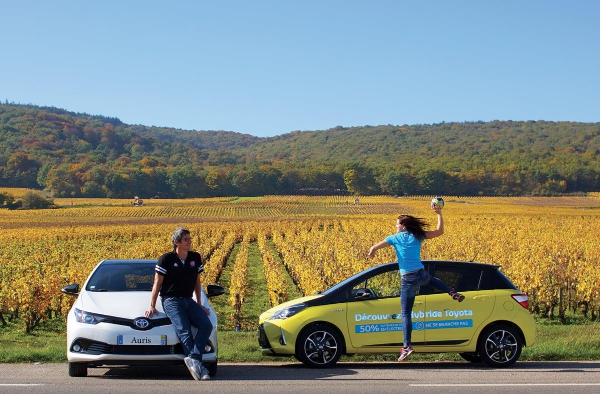 Les deux représentants du Cercle DIjon Bourgogne, aussi à l'aise sur un terrain qu'en bord de route.